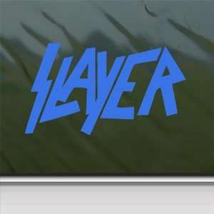Slayer Heavy Metal Rock Blue Decal Truck Window Blue