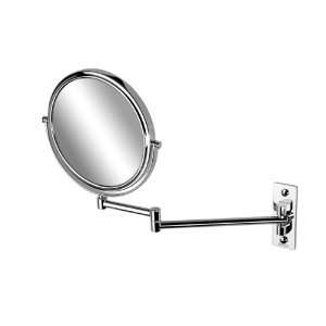1086 Chrome Round Wall Mounted Double Face 3x Magnifying Mirror 1086