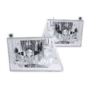 Anzo USA 111026 Ford Club Wagon Crystal Chrome Headlight
