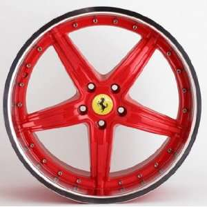 Ferrari F355 Red 3 Piece Forged Modular 19 Wheels Wheels Rims 1989