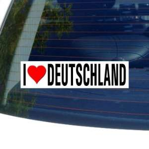 I Love Heart DEUTSCHLAND   Germany Window Bumper Sticker