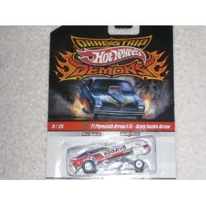 Hot Whels Drag Strip Demons 9/25 77 Plymouth Arrow F/C   Army Snake