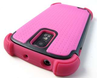 PINK TRIPLE Hard Hybrid Case Cover Samsung Galaxy S II T989 Tmobile