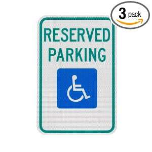 , Inc. 9012.78003 Handicapped Parking Sign, Reserved Parking 12 x