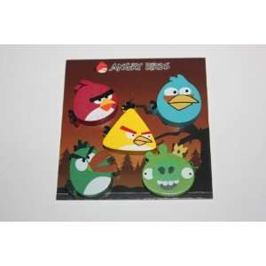 angry bird 6 pieces fridge/magnetic board wooden magnets