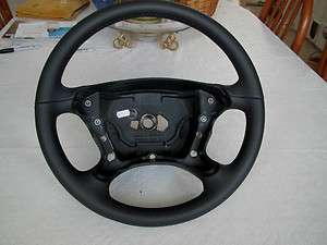 2003 2011 Mercedes SL R230, CLK W209 New Black Leather Steering Wheel