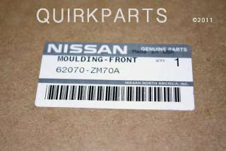 2007 2010 Nissan Quest Front Grille Assembly GENUINE OE NEW