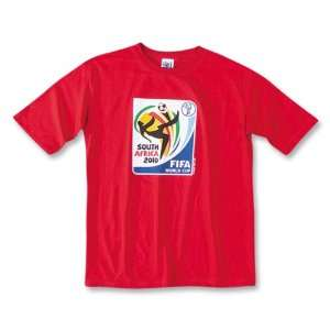 adidas World Cup 2010 Logo Youth Soccer T Shirt (Red)