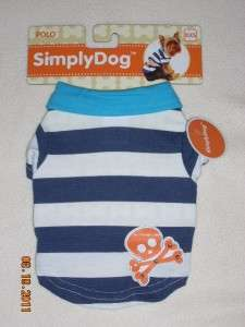 Pet Dog Polo Shirt w Skull Costume Clothes Apparel Size XXS