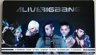 BIGBANG   Alive Tour 2012 Official Goods  Mini Standing Poster (Rare