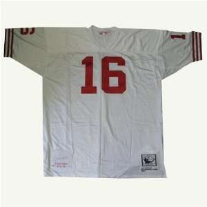 Autographed Joe Montana White Authentic Mitchell & Ness