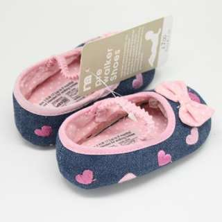 S28 Mary Jane Baby Shoes Infanta Toddler Pink Bow Tie