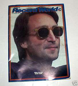 John Lennon Rare Record World Magazine Memorial Issue