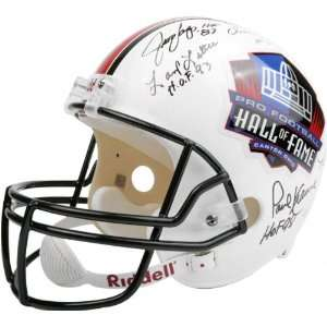 Hall of Fame Autographed Full Size Football Helmet with 18 Signatures