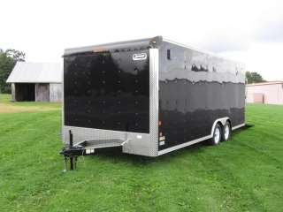 CAR MATE SPORTSTER ENCLOSED CAR HAULER TRAILER, 7K GVWR, BLACK