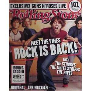 THE VINES Rock is Back Rolling Stone Magazine Cover Poster