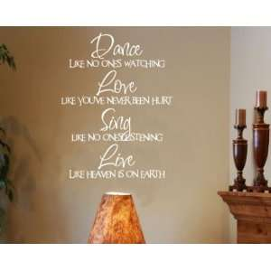 Dance Love Sing Live Sports Vinyl Wall Decal Sticker Mural
