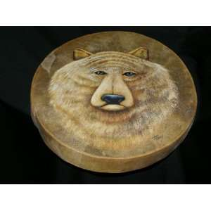 Native American Painted Drum 16  Bear (pd30) Musical Instruments