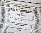 1861 Civil War newspaper w BATTLE VIENNA Virginia