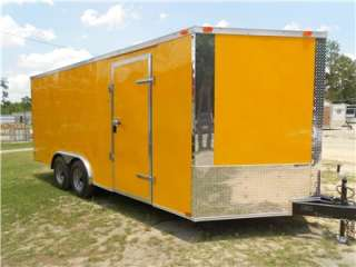 NEW 8.5 X 18 8.5X18 ENCLOSED CARGO CAR HAULER TRAILER   V NOSE