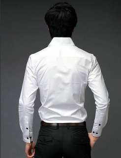 Mens Casual Slim fit Stylish Patched Dress Shirts 6042
