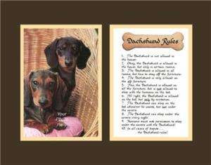 Dog Rules Dachshund Calligraphy Saying Poem Funny Humor