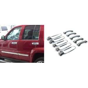 New Jeep Grand Cherokee/Liberty Door Handle Covers   4dr Chrome, 10pc