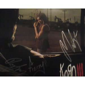 Autographed Korn III Record Album Cover Sleeve (no vinyl) Hand Signed