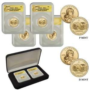 2010 MS67 Anacs P  and D Mint Native American Dollar Set