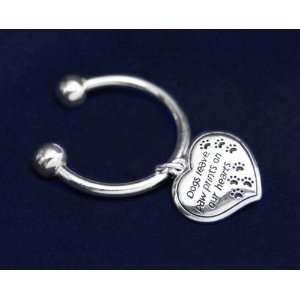 Animal Cause Key Chain   Dogs Leave Paw Prints (Retail