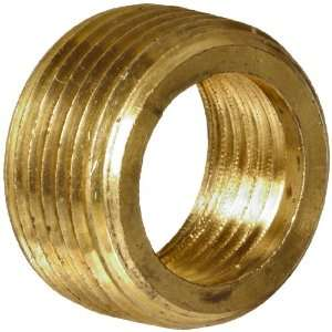 Anderson Metals Brass Pipe Fitting, Face Bushing, 3/8 Male Pipe x 1/4