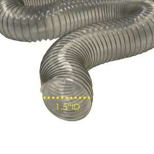 PVC Flexduct (Light Duty) Clear   Vent Hose   1.5 ID x 50ft Length