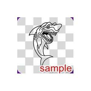 ANIMALS ANGRY SHARK 12.5 WHITE VINYL DECAL STICKER