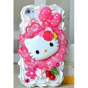 com Nice Cherry Lace Pattern Hello Kitty 3D Cake Style/Ice cream Cake
