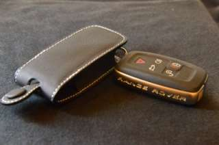 BK WHT Genuine leather Key Fob Range Rover Land Rover Evoque Discovery