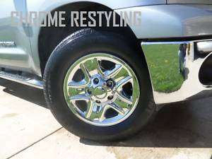TOYOTA TUNDRA CHROME WHEEL SKINS 2007 2010 18 OEM