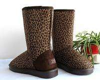 NEW Womens Leopard Winter Snow Boots Hot Fashion Warm Shoes 2 Colors 5