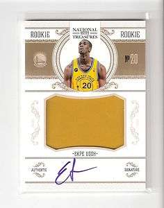 EKPE UDOH 10/11 national treasures auto patch rookie/99