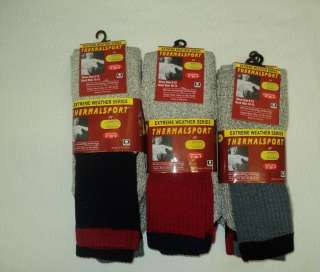 PAIRS MENS THERMALSPORT THERMAL TUBE SOCKS 10 13