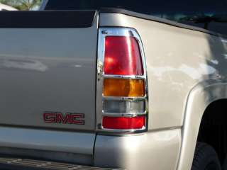 1999 2006 GMC SIERRA P/U CHROME TAIL LIGHT COVERS TFP