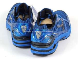 Mizuno Wave Rider Aura Blue/Black Mens Running Shoes 8KN 17099