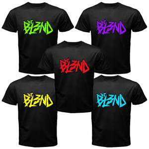 DJ BLEND   BL3ND Dubstep Fans Logo Trance Music Black T Shirt Size S