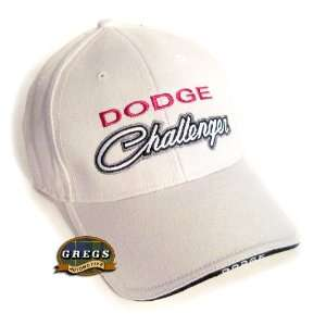 Dodge Challenger Hat Cap, White (Apparel Clothing
