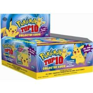 Pokemon Top 10 Topps Trading Cards HOBBY Box   24p7c Toys