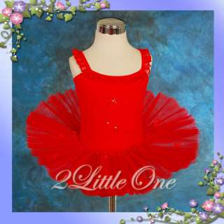 Girl Red Ballet Tutu Dance Costume Dress Leotard 4 5