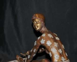 Art Deco French Bronze Chiparus Tanara Dancer Figurine