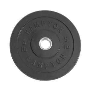 Hampton 5 lb Black Solid Rubber Bumper Plate Sports