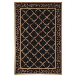 Chelsea Collection Hand Hooked Black Wool Area Rug 5.30 x