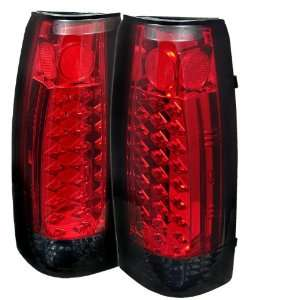 Blazer 87 94 LED Tail Lights + Hi Power White LED Backup Lights   Red