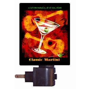 Kitchen and Bar Night Light   Classic Martini   LED NIGHT